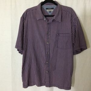 Tommy Hilfiger Blue Button Front Shirt Mens XXL